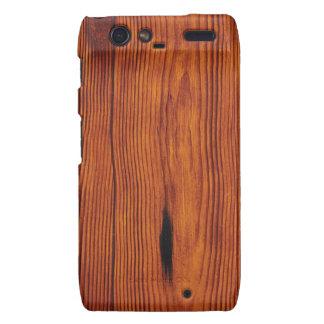 Caso de madera de Motorola Droid RAZR del grano Droid RAZR Fundas