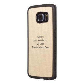 Caso de madera de parachoques de Samsung del borde Fundas De Madera Para Samsung S6 Edge