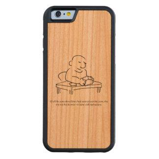 Caso de madera de Smartphone de las instrucciones Funda De iPhone 6 Bumper Cerezo