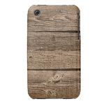 Caso de madera del fondo de la fotografía Case-Mate iPhone 3 carcasa