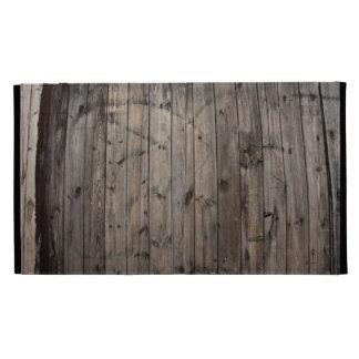 Caso de madera del iPad del folio de la pared