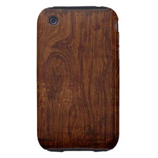 Caso de madera del iPhone 3 del grano iPhone 3 Tough Protector