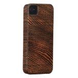 Caso de madera del iPhone 4 del grano del Hemlock Case-Mate iPhone 4 Protectores