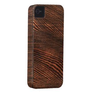 Caso de madera del iPhone 4 del grano del Hemlock iPhone 4 Fundas