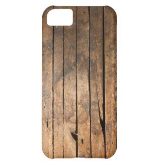 Caso de madera del iPhone 5 de los tablones Funda Para iPhone 5C