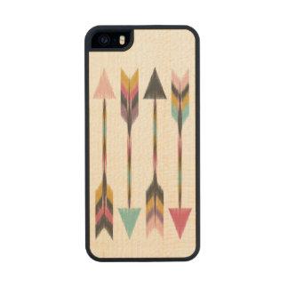 Caso de madera del iPhone 5 del arce bohemio de Funda De Madera Para iPhone 5