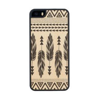 Caso de madera del iPhone 5 del arce tribal de las Funda De Arce Carved® Para iPhone 5