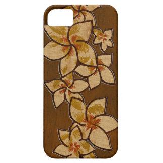Caso de madera del iPhone 5 del Plumeria hawaiano iPhone 5 Protectores