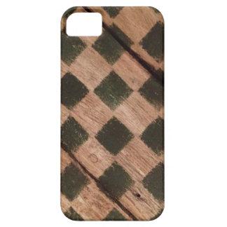 Caso de madera del iPhone 5 del tablero de ajedrez Funda Para iPhone SE/5/5s