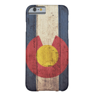 Caso de madera del iPhone 6 de la bandera de Funda Barely There iPhone 6