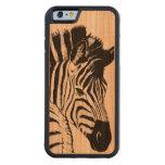 caso de madera del iPhone 6 de la cebra Funda De iPhone 6 Bumper Cerezo
