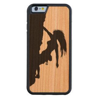 caso de madera del iPhone 6 de la escalada de la Funda De iPhone 6 Bumper Cerezo