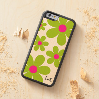 Caso de madera del iPhone 6 de la margarita del Funda De iPhone 6 Bumper Arce