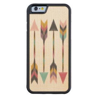 Caso de madera del iPhone 6 del arce bohemio de Funda De iPhone 6 Bumper Arce