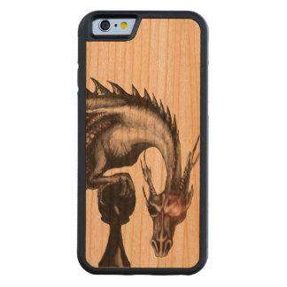 caso de madera del iPhone 6 del dragón del empeño Funda De iPhone 6 Bumper Cerezo