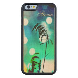 Caso de madera del iPhone 6 del drama de la hierba Funda De iPhone 6 Bumper Arce