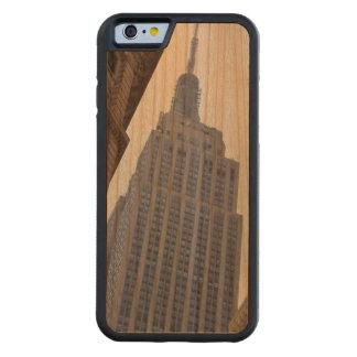 Caso de madera del iPhone 6 del Empire State Funda De iPhone 6 Bumper Cerezo