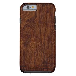 Caso de madera del iPhone 6 del grano Funda Para iPhone 6 Tough
