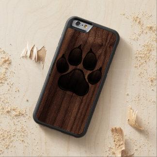 Caso de madera del iphone 6 del perro de la funda de iPhone 6 bumper nogal