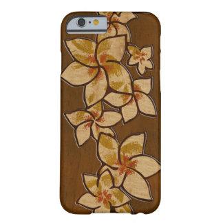 Caso de madera del iPhone 6 del Plumeria hawaiano