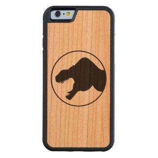 Caso de madera del iPhone 6 del rey del tirano Funda De iPhone 6 Bumper Cerezo