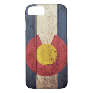 Caso de madera del iPhone 7 de la bandera de Funda iPhone 7