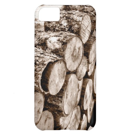 Caso de madera del iphone de la pila funda para iPhone 5C