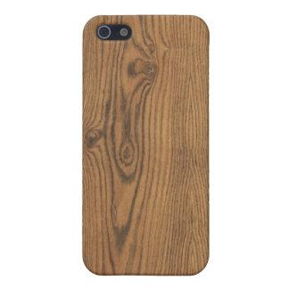 Caso de madera del iPhone del grano de la nuez iPhone 5 Funda