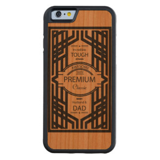 Caso de madera del iPhone del mejor papá Funda De iPhone 6 Bumper Cerezo