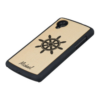 Caso de madera delgado del nexo 5 de Google de la Funda De Nexus 5 Carved® Slim De Arce