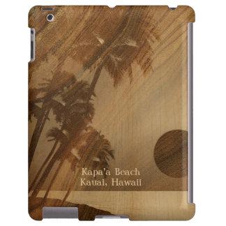 Caso de madera hawaiano del iPad de Koa de la