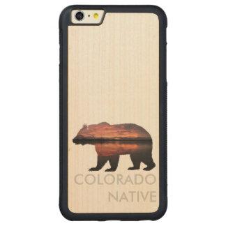 Caso de madera nativo de la puesta del sol el | funda de arce bumper carved® para iPhone 6 plus