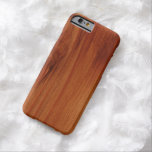 Caso de madera pulido del iPhone 6 del modelo Funda De iPhone 6 Barely There