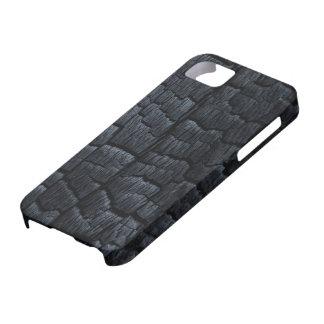 Caso de madera quemado del iPhone 5 de la textura iPhone 5 Funda