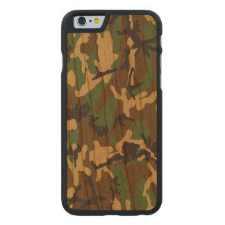 Caso de madera real de Camo del arbolado Funda De iPhone 6 Carved® Slim De Cerezo