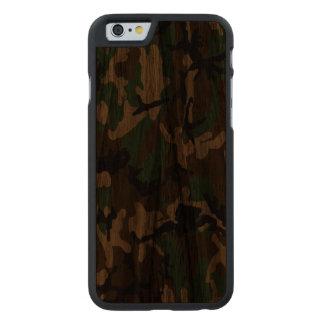 Caso de madera real de Camo del arbolado Funda De iPhone 6 Carved® De Nogal