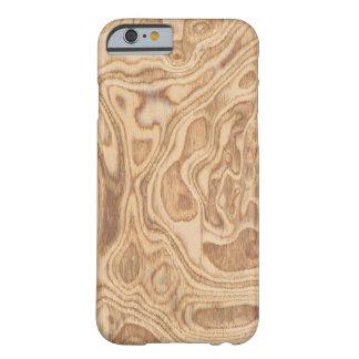 Caso de madera real del iPhone 6 de la ceniza de Funda Para iPhone 6 Barely There