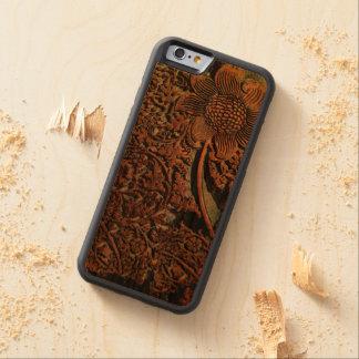 Caso de madera real del iPhone 6 del modelo de Funda De iPhone 6 Bumper Cerezo