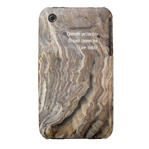 Caso de madera rústico del iPhone 3G-3GS de la Funda Para iPhone 3