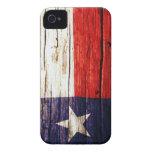 Caso de madera rústico del iPhone de la bandera de iPhone 4 Case-Mate Cárcasa