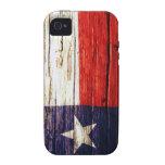 Caso de madera rústico del iPhone de la bandera de Vibe iPhone 4 Fundas