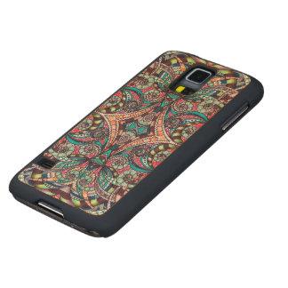 Caso de madera Samsung G S5 que dibuja Zentangle