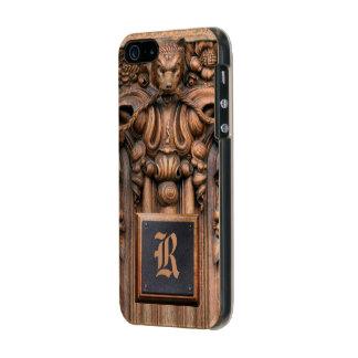 Caso de madera tallado del brillo del iPhone 5/5S Funda Para iPhone 5 Incipio Feather Shine