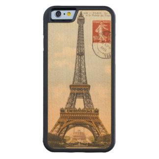Caso de madera tallado torre Eiffel del iPhone 6 Funda De iPhone 6 Bumper Arce