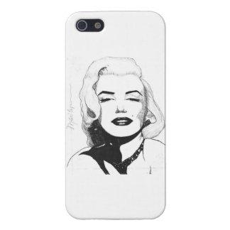Caso de Marilyn IPhone cuatro (brillantes) iPhone 5 Funda