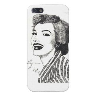 Caso de Marilyn IPhone (el brillante) iPhone 5 Carcasas