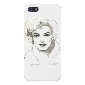 Caso de Marilyn IPhone tres (brillantes) iPhone 5 Carcasas