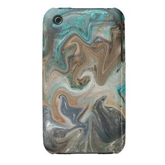 Caso de mármol del iPhone 3/3GS de la roca Case-Mate iPhone 3 Protector