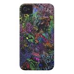 caso de neón abstracto de Iphone iPhone 4 Case-Mate Cobertura