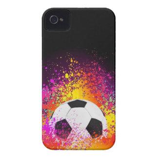 Caso de neón de Iphone del balón de fútbol Carcasa Para iPhone 4